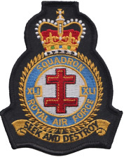 No. 41(R) TES Squadron Royal Air Force RAF Crest MOD Embroidered Patch