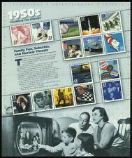 Celebrar el siglo década de 1950 Hoja de quince 33 Centavos Estampillas Postales Scott 3187