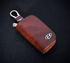 Hyundai cuir voiture Trousseau de Clé Fob Case Titulaire Zipper Housse de haute qualité marron