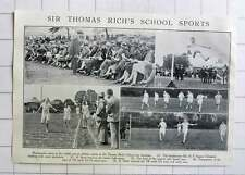 1928 Sir Thomas Rich School Sports, Mr Hf Rogers Tillstone , R Hook