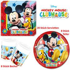 Disney Mickey Mouse 36-teilig Servietten Pappteller Becher Geburtstag Kinder