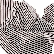 48~Black & White Stripe Quality Tissue Paper~Lg 20x30~50 Sheets~Same Day Ship