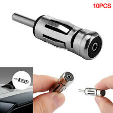 10X Vehicles Alloy Aerial Plug Car Radio Stereo Antenna Mast Adapter ISO 2Y