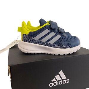 New ADIDAS Baby Size 5 Tensaur Run 1 Running Sneaker Shoe FY9199 Blue Yellow