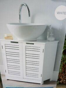 60x60x30Panel 2 Door Bathroom Under Sink Cabinet Undersink Cupboard(CC)FreUKPOST