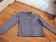 laura ashley faux suede sheepskin jacket blue NWT  small $249