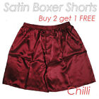 Win Red-Men's Silk Satin Underwear Homewear Underpants Boxer Shorts Buy 2 get 1