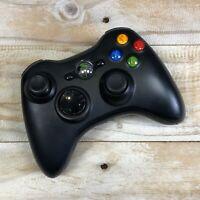 Genuine Microsoft Xbox 360 Black Wireless Controller TESTED