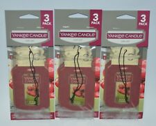 LOT OF 9 YANKEE CANDLE BLACK CHERRY CLASSIC CAR JAR AIR FRESHENER CLOSET HANGING