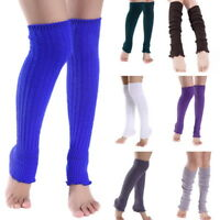 Womens Leg Warmers Soft Wool Cashmere Long Socks Yoga Leggings Warm Leg Sleeves