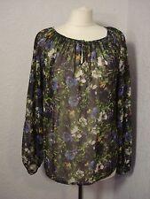 Next black & multi floral chiffon blouse top 14