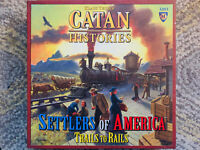 Klaus Teuber CATAN Histories Board Game Settlers of America Trails To Rails OOP