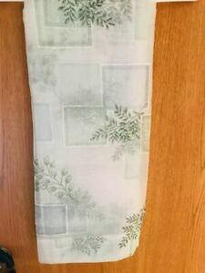 "(2) CROSCILL SEMI SHEER BATHROOM WINDOW PANELS ""EVEREST RAINIER"" Design - Used"