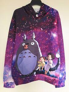 Ghibli My Neighbour Totoro Galaxy Hoody Jumper Jacket Top Unisex Shirt Hoodie
