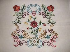 EP 5449 Vintage Floral Preworked Needlepoint Canvas