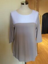Riani Top Size 10 BNWT Beige And White With Zips RRP £149 Now £67