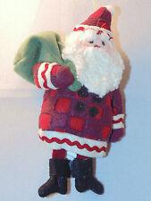 Hallmark Santa Claus Ornament Fabric Holiday Tree Decoration 2002 Collectible