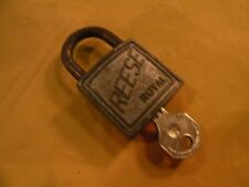 """Antique Vtg. """"REESE"""" ROYAL Old Pad lock With Key - As Is"""