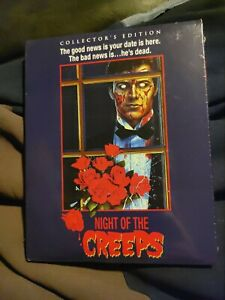 NIGHT OF THE CREEPS COLLECTORS EDITION BLU-RAY WITH SLIPCOVER BRAND NEW OOP RARE