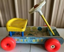 1964 FISHER PRICE CREATIVE COASTER RIDE-ON WAGON - 987
