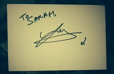 JAY JAMES SIGNED 6X4 WHITE CARD TO SARAH TV AUTOGRAPH THE X FACTOR 100% GENUINE