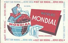 Buvard Vintage  Matelas Mondial