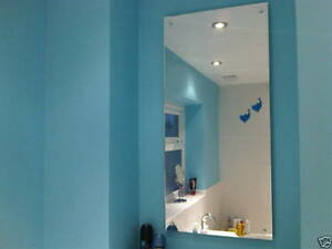 Wall Mounted Acrylic Perspex Plastic Safety Mirror Ideal for Bathrooms