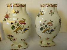 Paire vases,Hauts:25 cm,Gien/Moustier/Marseille?/ Mason's,(marqué par un trefle)
