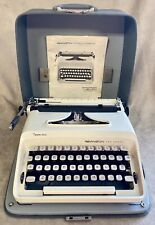 White Remington Sperry Rand Ten Forty Manual Portable Typewriter Case Book