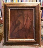 NORBERTO A. REYES Native American HAND SIGNED Oil Painting MALE NUDE FRAMED AICA