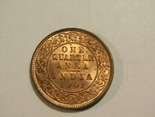 India-Great Britain 1901-C 1/4 Anna unc Coin