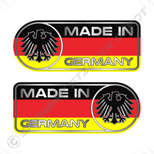 Made In Germany Car Sticker Set Vinyl Decal German Flag Sticker For Benz & BMW