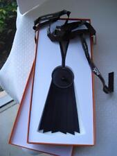 New in Box Authentic HERMES So Black Barenia Flot Handbag Charm