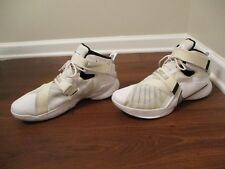 1abc45ae4b6 Used Worn Size 14 Nike LeBron Zoom Soldier IX 9 Shoes White Black Silver