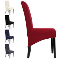 UK 1PC Dining Chair Covers Spandex Slip Cover Stretch Wedding Banquet Party Deco