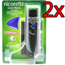 2x Nicorette Cool Berry spray 13.6 mg Stop Smoking help in addiction treatment