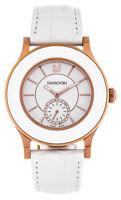 Swarovski Octea Classica White Rose Gold Leather Band Women's Watch 5043143