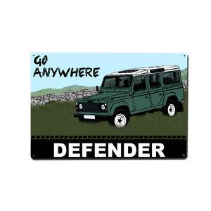 Land Rover Defender Metal Wall Art / Print / Image