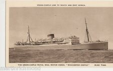 Union Castle Royal Mail Line M.V. Winchester Castle Shipping Postcard #3, B521