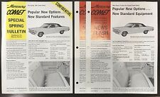 VINTAGE AUTHENTIC 1966 Mercury Comet Confidential dealer sales sheets - 3 pack