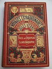 Jules Verne- Face Au Drapeau & Clovis Dardentor- Text in French- Hachette 1917