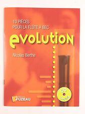 10 Pièces Pour La Flûte A Bec Evolution De Nicolas Berthe / Livre Fuzeau + CD