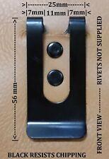 10 x BLACK HOLSTER STEEL STRONG METAL BELT CLIP UTILITY SPRING MONEY CLIPS