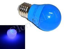 LAMPADINA LED LUCE BLU 4W LAMPADINE COLORATE LAMPADA SFERA COLOR DECORAZIONI E27