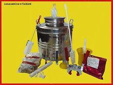 KIT BIRRA DI FERMENTAZIONE, secchio in acciaio inox 18/10, 30 lt. completo
