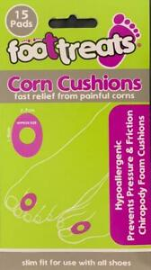15 Pads Corn Cushions Slim fit Sooth/Relieve Corns Corn Foam Adhesive Ring Pads