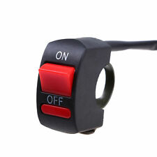 Motorcycle ATV Waterproof Handlebar Headlight Fog Spot light On Off Switch 12V