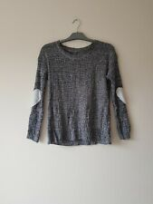 Grey Long Sleeve Jumper With Heart Pattern - Size 12 - New Without Tags