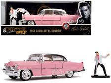 1955 Cadillac Fleetwood Rose avec / Elvis Presley Figurine 1/24 Diecast car Jada