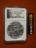 2012 $1 AMERICAN SILVER EAGLE NGC MS70 EARLY RELEASES BLACK LABEL